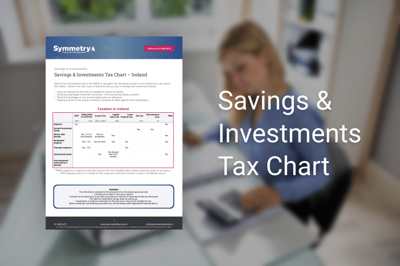 Savings and Investments Tax Chart