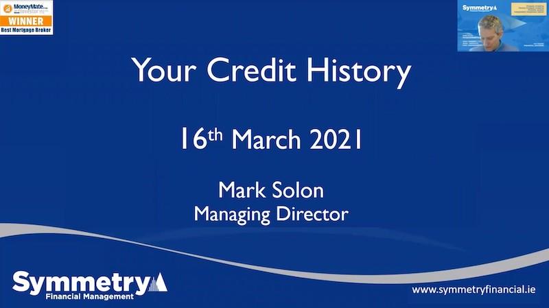 Understanding Your Credit History Webinar - Symmetry Financial Management